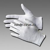 Baumwolltrikot-Handschuh weiß mit Schichtel