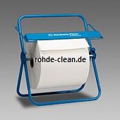 Kimberly-Clark Wandhalter/Tischspender Großrolle metall blau