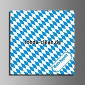 Tork Papierservietten weiß/blau 1/4 Falz 33x33cm Bayernraute