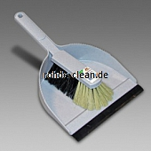 Kehrgarnitur Kunststoff Rosshaarmischung 35x22cm granit