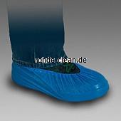 Einweg-Überschuh aus PE 75µ blau 40x16cm feste Qualität